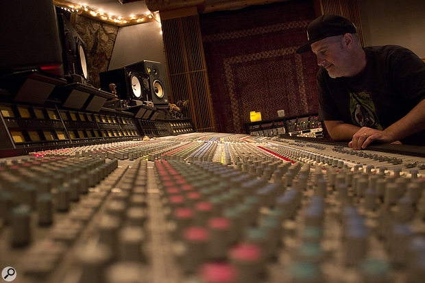 Matt Hyde at Megawatt Recording Studio B, where the Gore album was mixed.