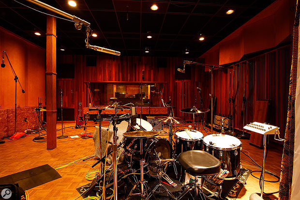 The Studio A live room at Megawatt is the main tracking area.