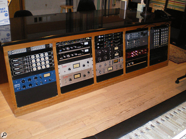 Matt Hyde's mixes made much use of the outboard in Studio B.