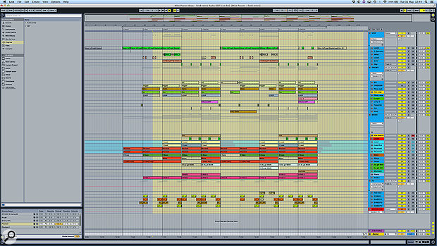 This screenshot shows the entire Ableton Live project for Seeb's remix of 'I Took A Pill In Ibiza'.