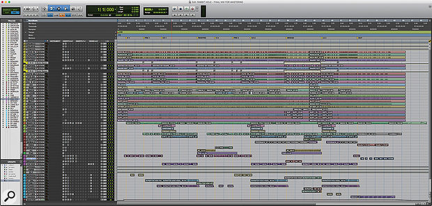 This screenshot shows the entire Pro Tools Edit Window for Blink 182's 'Rabbit Hole'.