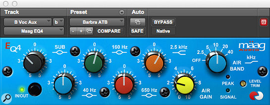The Mäag EQ4 plug-in formed a part of David Reitzas' signal chain on all the sung vocal tracks.