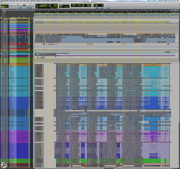 The full Pro Tools session for 'At The Ballet'.