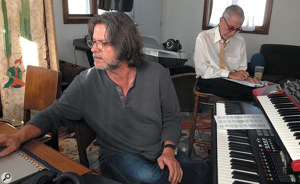 The Leonards: Patrick Leonard (left) and Leonard Cohen at work in the latter's house.