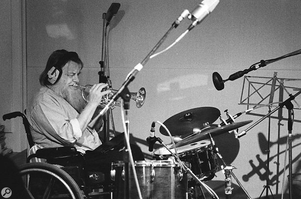Robert Wyatt, founder of Soft Machine, another of the many famous guest musicians who contributed to the album.