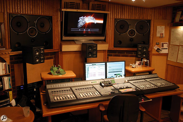 The studio at Jeff Wayne's Hertfordshire house where The War of The Worlds was remixed for surround, with the large Digidesign Pro Control setup that was used.