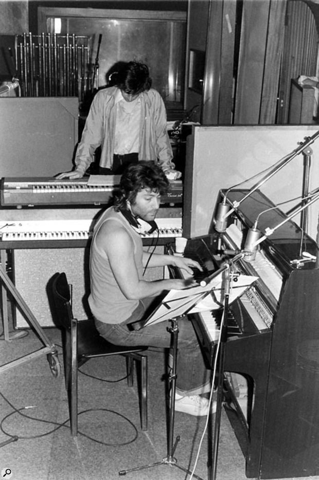 Jeff Wayne at Advision Studios during the recording of The War of The Worlds.