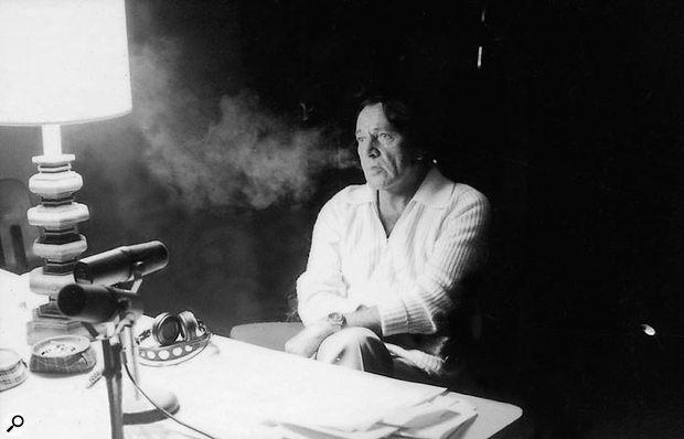 Richard Burton recording his narration.