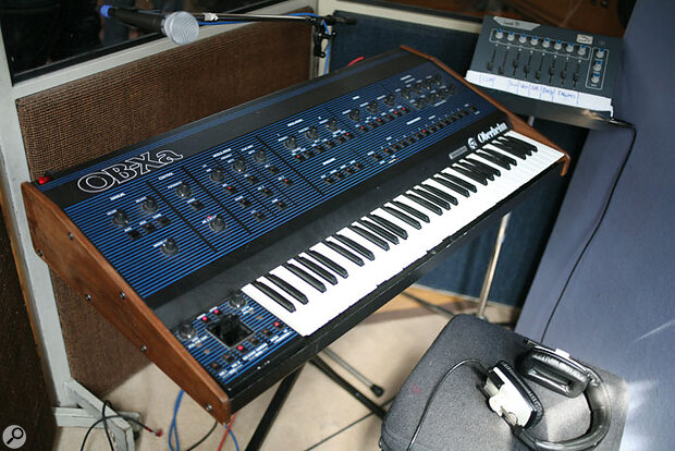 Oberheim OBXa keyboard synthesizer.