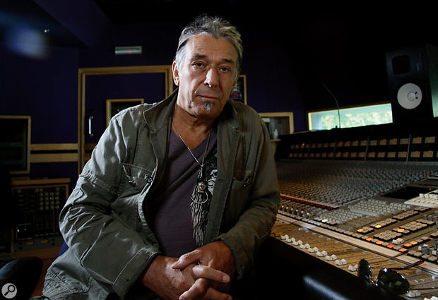 John Cale at Olympic Studios in London.