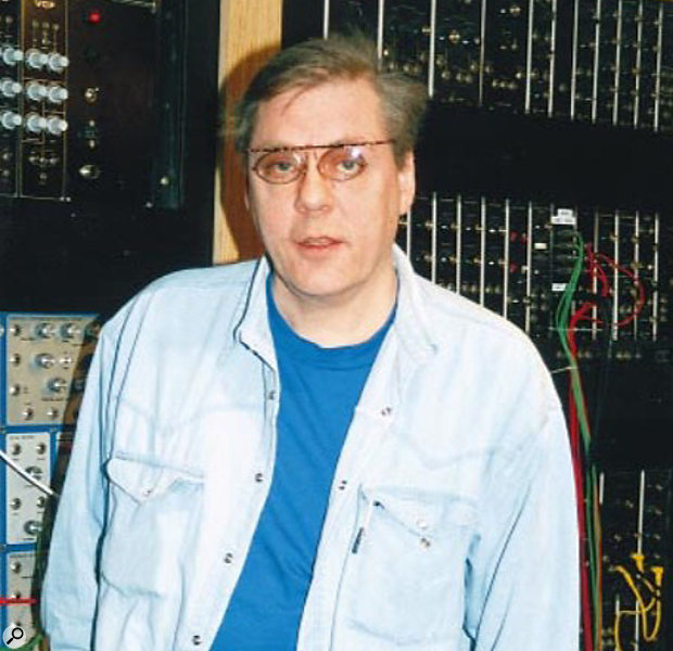 Klaus Schulze 1999 at Turnkey, London store for the Quasimidi Polymorph launch.