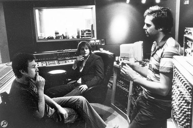 Andy Green (left), Tom Chaplin (centre) and Tim Rice-Oxley during the sessions for the 'This Is The Last Time' EP at Westside Studios.