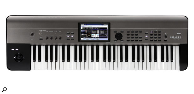 The 61-note version of the new Krome EX workstation.