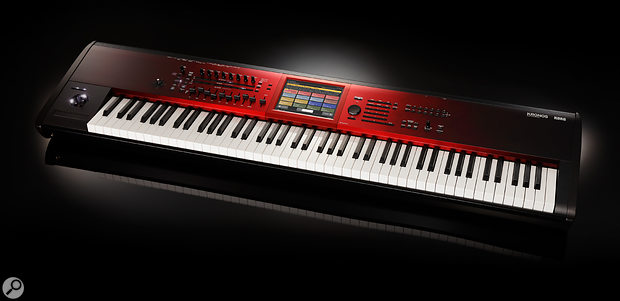 Korg's Special Edition Kronos SE, with its distinctive sunburst red finish.
