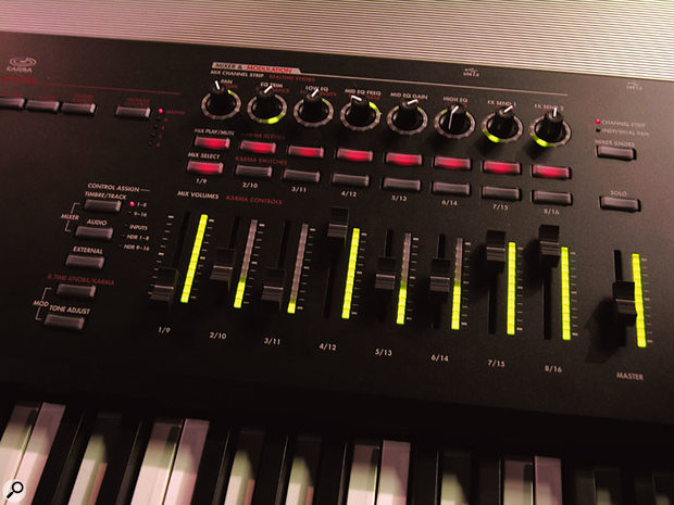 Controls include banks of rotary and slider encoders, the latters' functions including acting as drawbars for the CX3 tonewheel organ emulation.