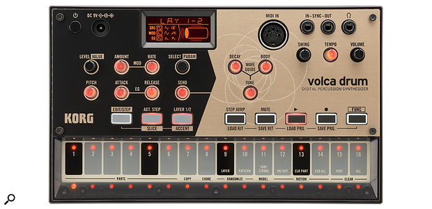 Korg's Volca Drum, launched at NAMM 2019.