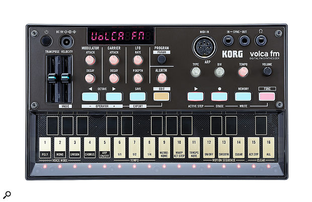 The Volca FM's front-panel livery is certainly reminiscent of its Yamaha forebear.