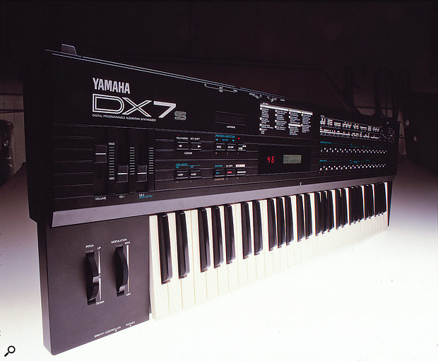 This later incarnation of the original, the DX7S, put a slightly friendlier face on FM synthesis.