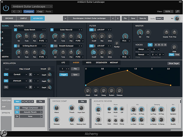Alchemy was reintroduced in Logic Pro 10.2, sporting an Apple makeover.