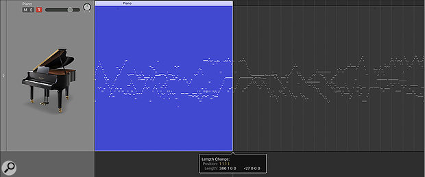When adjusting the bounds of a MIDI region, data outside them is now visible.