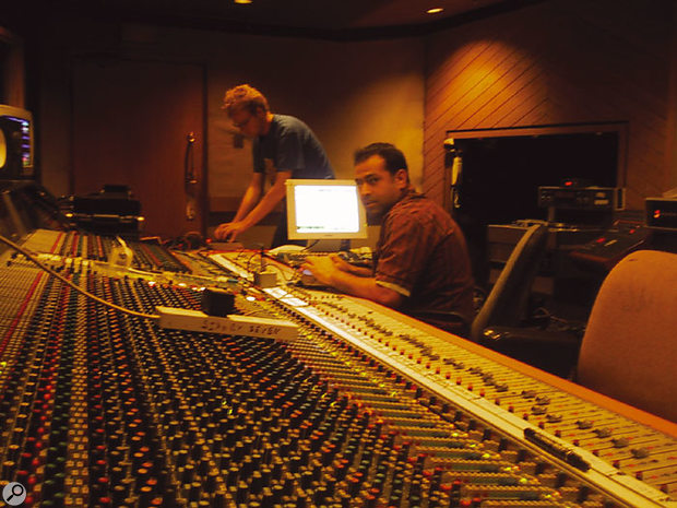 Ali Staton and 'The Ferg' mixing on Mayfair's Neve desk.