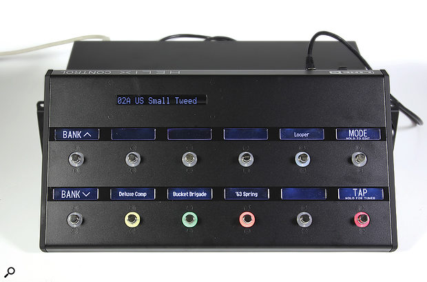 The optional Control floorboard connects to the Rack unit via an Ethernet cable, from which it also draws its power.