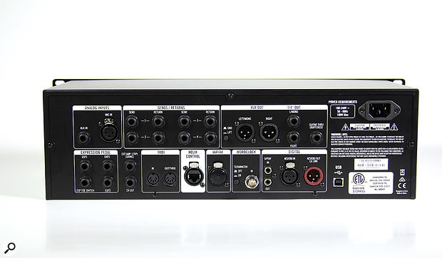 The analogue and digital I/O are numerous, and allow for plenty of routing options.