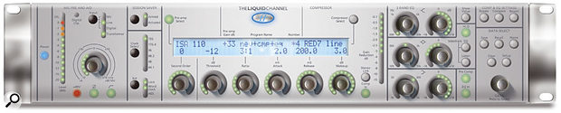 A digital mockup of the front panel of the new Liquid Channel, which is approaching completion at the time of going to press.