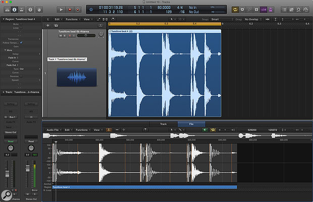 Screen 3: Whilst in the Sample editor, click the Transient Editing Mode button On and use the ± buttons next to it to adjust the sensitivity of detection. Use the Pencil tool to add any markers that were missed.