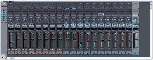 Amongst other improvements, the Track Mixer now allows you to store and load channel strip settings, including multiple instrument and effects plug-ins.