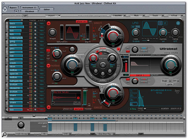 Ultrabeat is a powerful percussion synthesizer with its own pattern sequencer.