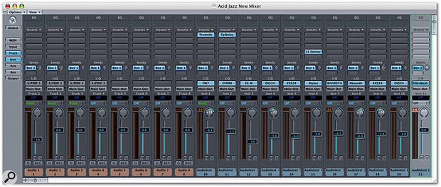 The new Track Mixer: more grey than before, but there are new features too!