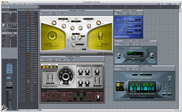 Of the new processing plug-ins, Guitar Amp Pro is the biggest news, but there are some other very useful tools such as Pitch Corrector, Grooveshifter, Vocal Transformer and Ringshifter.