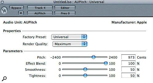Logic's AUPitch plug-in.