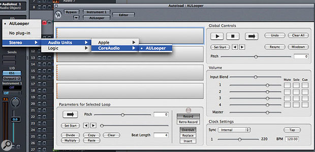 The new AULooper plug-in can be found in the Tiger upgrade's Developer Tools.
