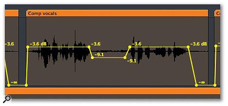 Logic vocals automation.
