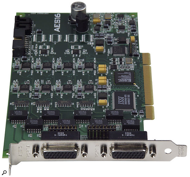 The AES16 card can be paired with the Aurora or any other converter offering AES-EBU digital connections.