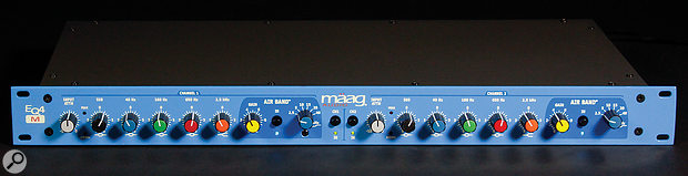 The frequencies chosen for Mäag's EQ are different from most designs, with very low- and high-frequency bands combining with the high- and low-pass filters to create some very useful tone-shaping curves.
