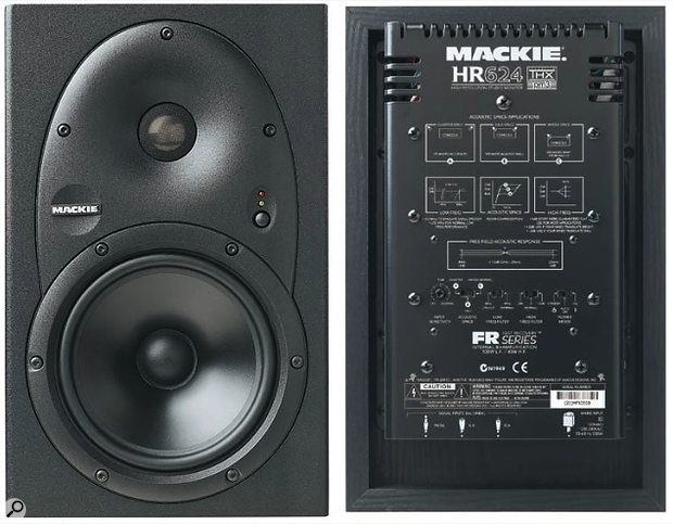 Mackie HR624 MkI monitors, front and rear.