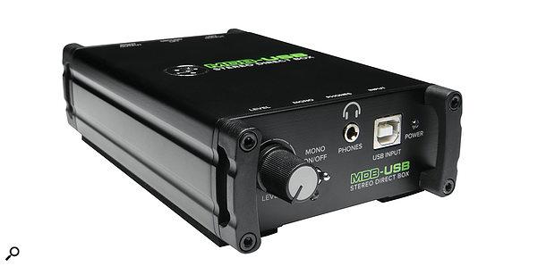Mackie's MDB‑USB stereo direct box.