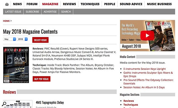 Buy PDF Issue button on Magazine contents page.