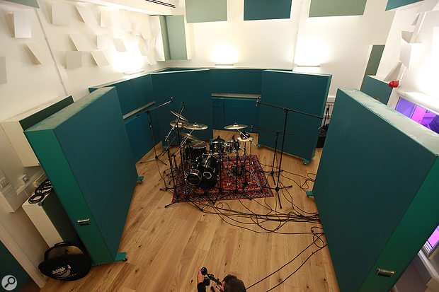7. The final drum-tracking mic placements.