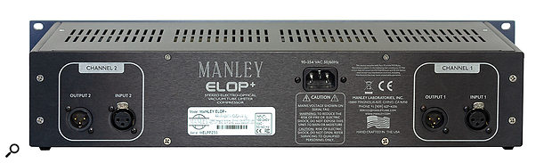One of several improvements to the original ELOP design is the provision of balanced I/O. The inputs use Manley's own hand-wound transformers, while the outputs are impedance balanced.