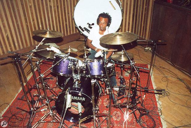 Katché at his drum kit.