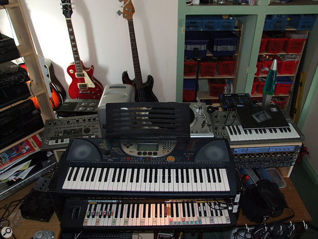No gear snob, Martin Rushent is happy to give pride of place to a Yamaha PSR270 home keyboard.