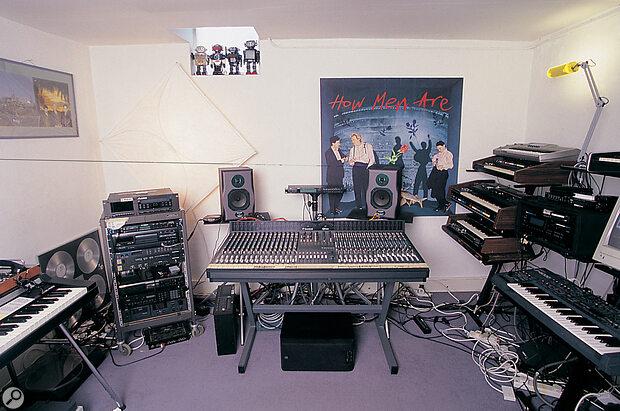 Martyn Ware's home studio.