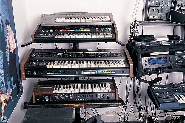 Some of Martyn Ware's keyboards.