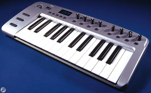 Like a couple of other recent keyboards, such as the Alesis Micron reviewed last month, the O2 makes use of the musical keys to provide extra switches to access certain functions, which are listed in the 'scooped-out' section above the musical keys.