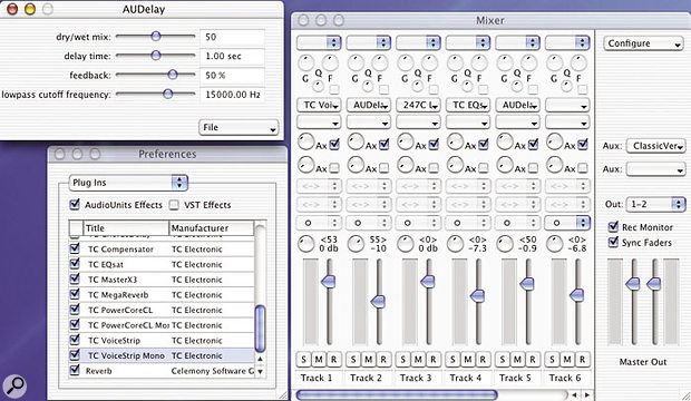Melodyne can now host VST and Audio Units plug-ins, and its mixer has also been improved to offer better visual feedback and labelling.