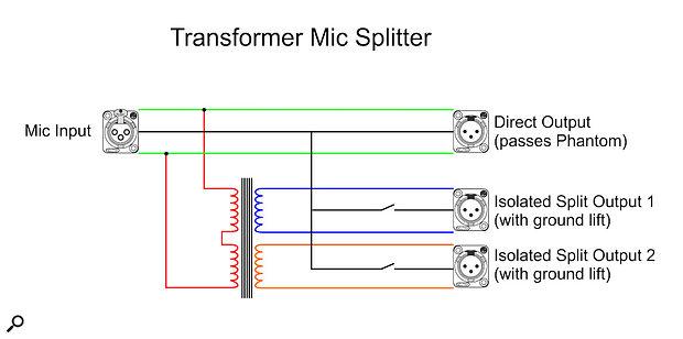 Mic TXFR Splitter